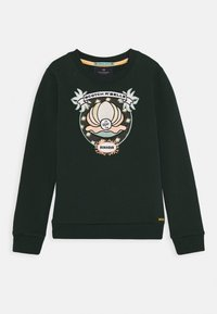 Scotch & Soda - CREWNECK WITH SHELL EMBROIDERY - Sweater - lagoon green - 0
