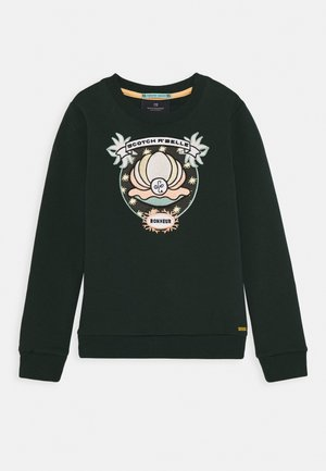 CREWNECK WITH SHELL EMBROIDERY - Mikina - lagoon green