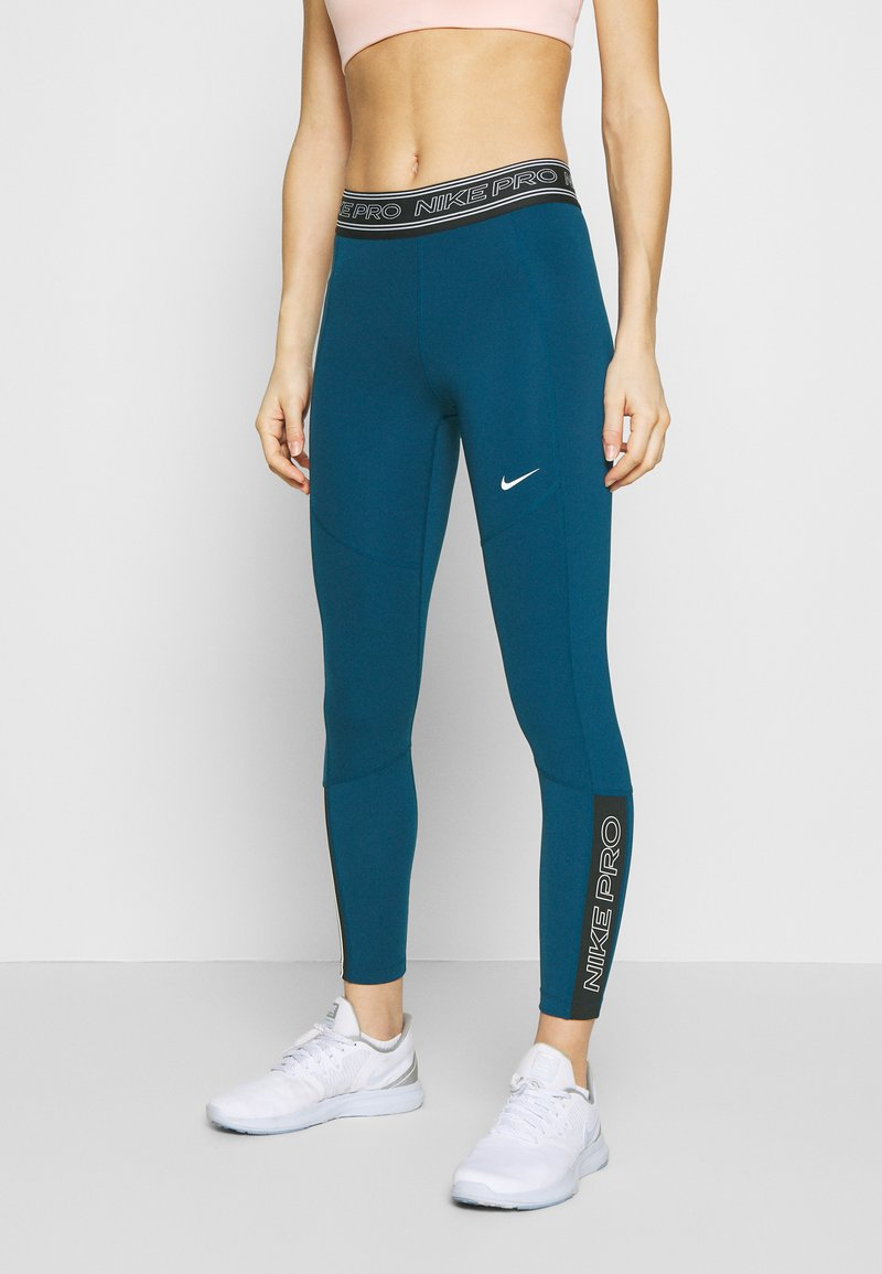 Nike Performance - TIGHT 7/8  - Leggings - valerian blue/black/white