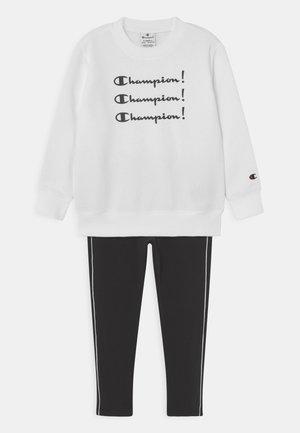CREW NECK SET UNISEX - Survêtement - white/black