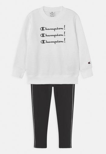 CREW NECK SET UNISEX - Trainingsanzug - white/black