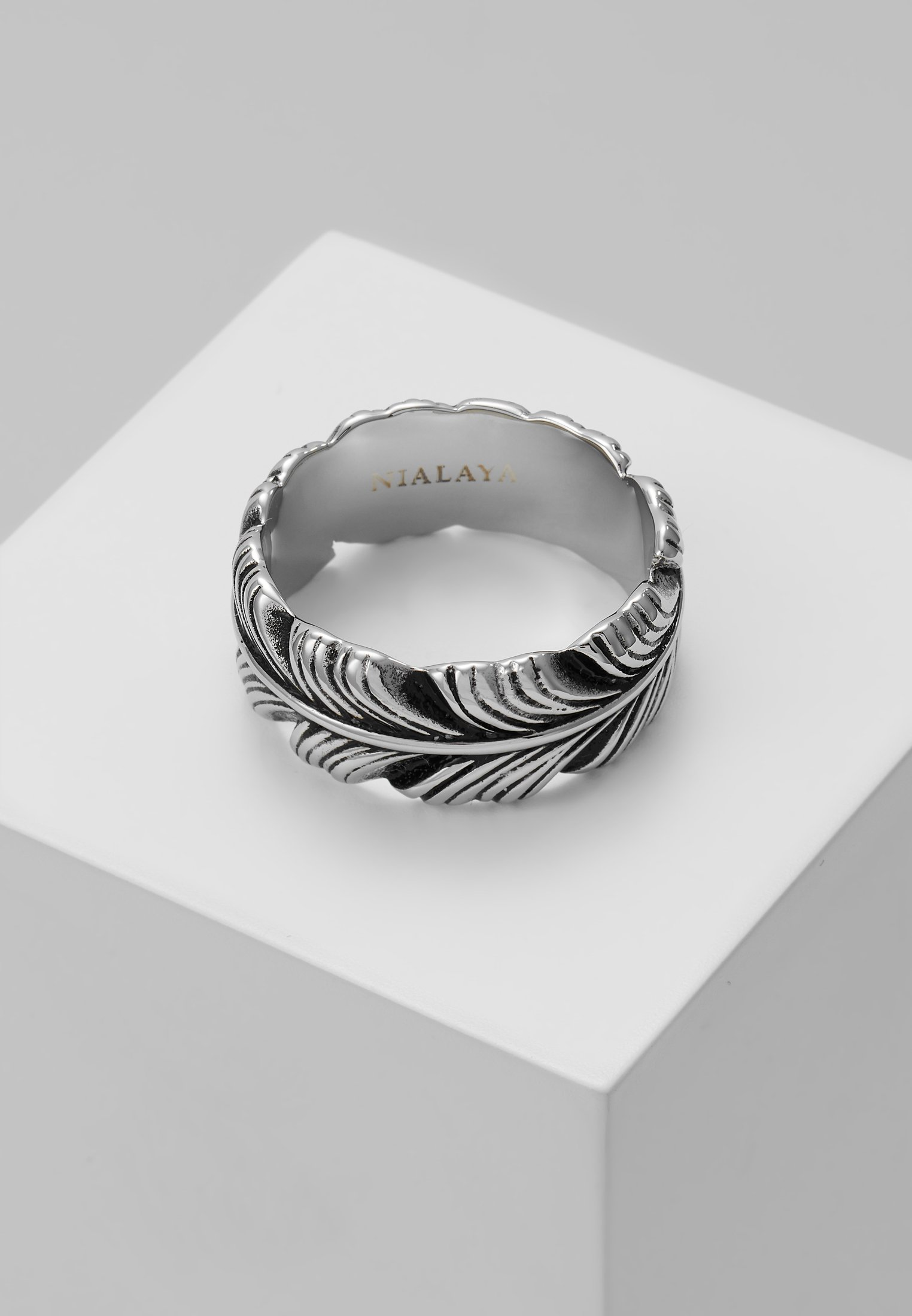 Homme FEATHER WITH VINTAGE FINISH - Bague