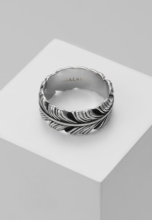 FEATHER WITH VINTAGE FINISH - Ringe - silver-coloured