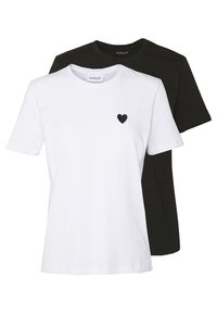 Even&Odd - 2PACK - Basic T-shirt - white/black - 0