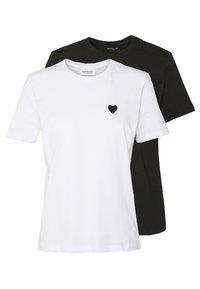 2PACK - Jednoduché triko - white/black