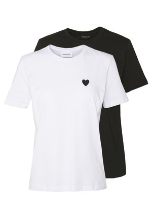 2PACK - T-shirts - white/black