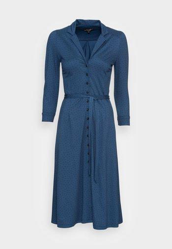 LOLA BUTTON DRESS LITTLE DOTS - Jerseykjole - blue dawn