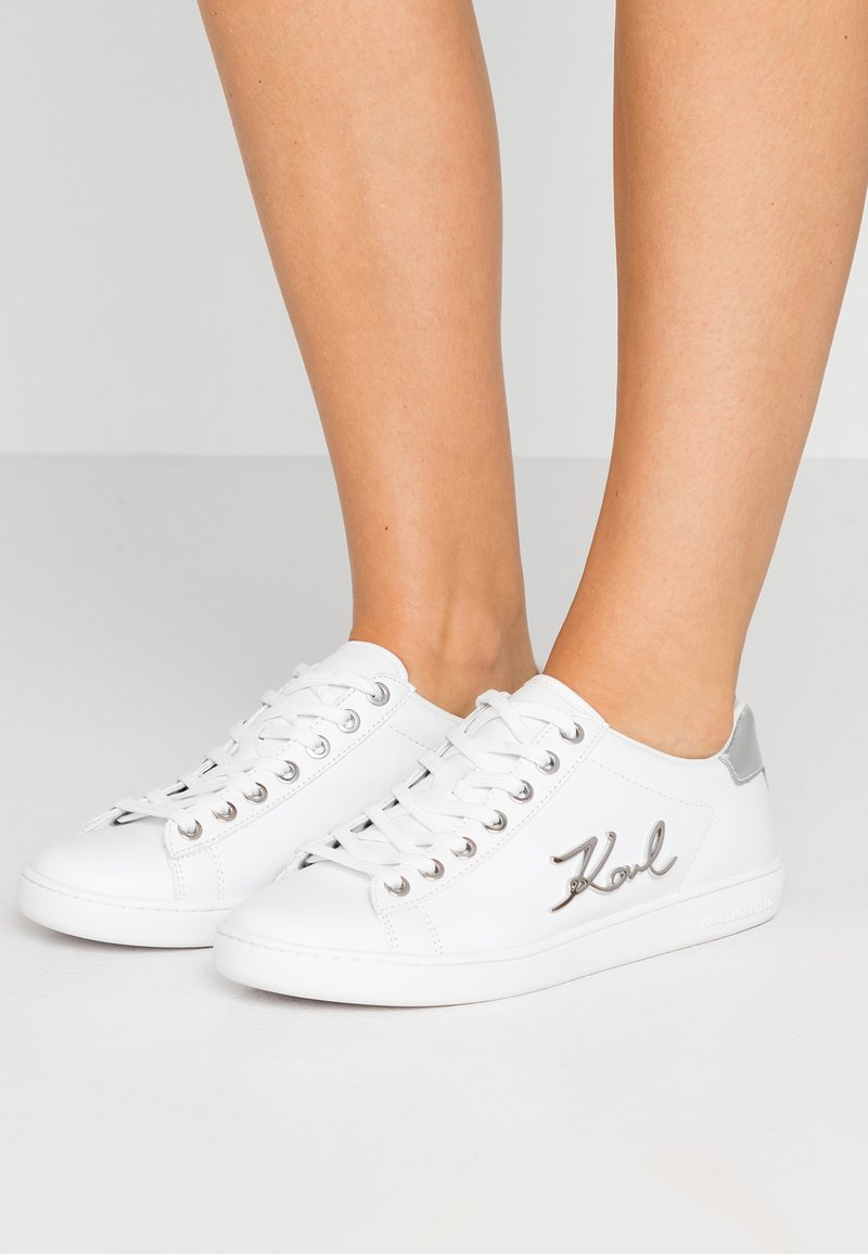 KARL LAGERFELD - KUPSOLE SIGNIA LACE - Sneakers - white/silver