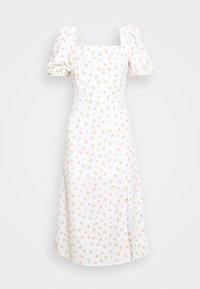 Glamorous - TIE BACK MIDI DRESS WITH PUFF SHORT SLEEVES SQUARE NECKLINE - Kjole - white/pink - 5