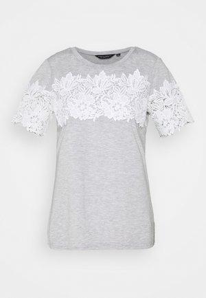 INSERT TRIM TEE - T-shirts print - grey