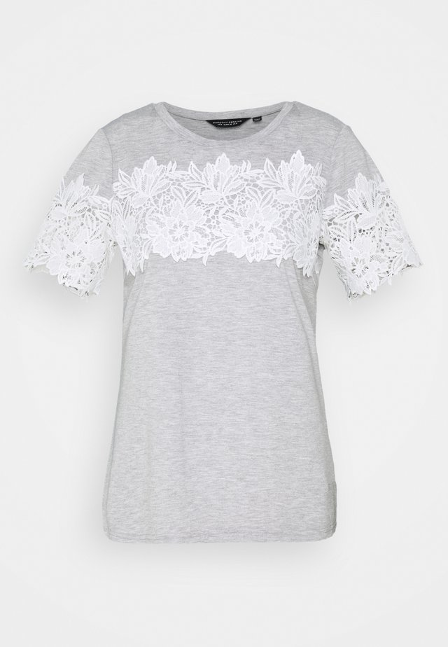 INSERT TRIM TEE - T-shirts med print - grey