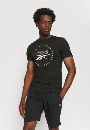 TRAINING SPEEDWICK TEE - Print T-shirt - black/white