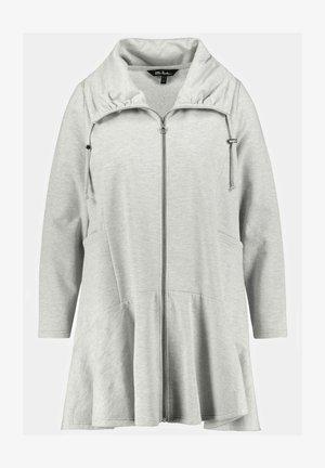 Zip-up sweatshirt - hellgrau melange