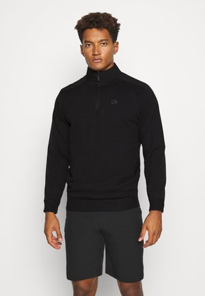 BRUCE HALF ZIP - Jumper - black