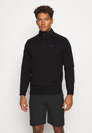 BRUCE HALF ZIP - Stickad tröja - black