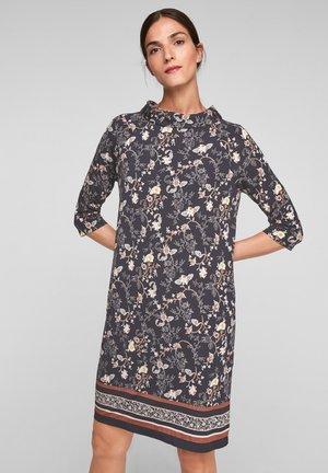 Day dress - black floral aop