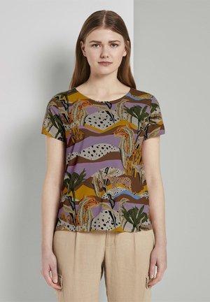 Print T-shirt - tropical safari print