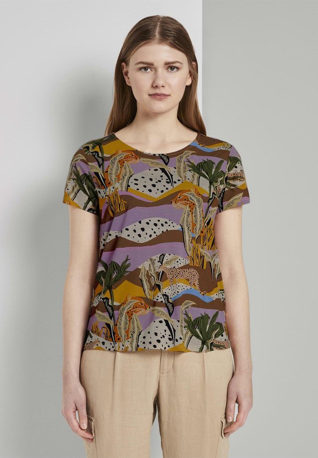 Print T-shirt - tropical safari print