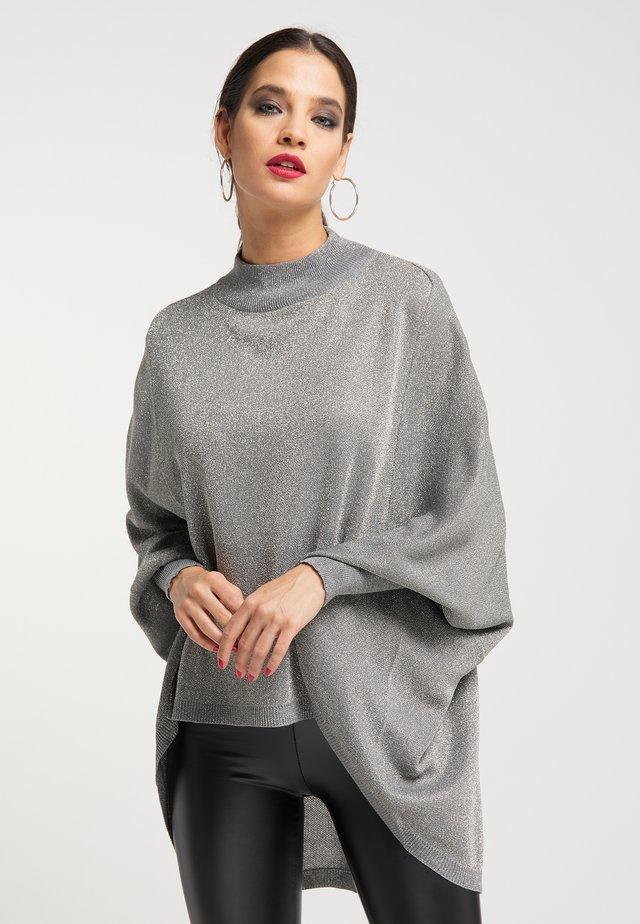 Sweter - silber