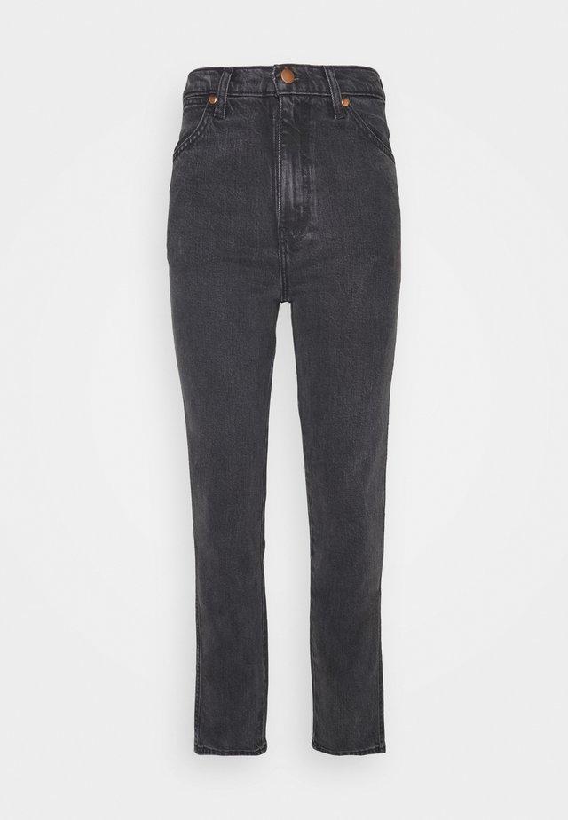 WILD WEST - Jeansy Straight Leg - rinsed black