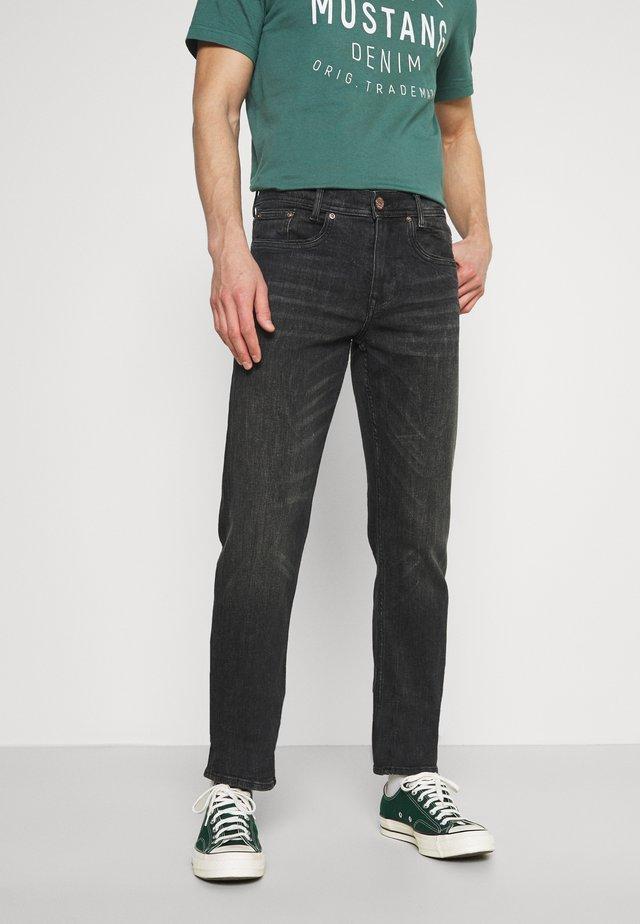 Jeans straight leg - black stone