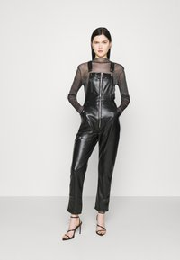 Missguided - DUNGAREE - Overal - black - 1