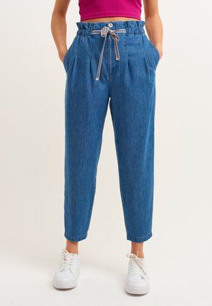 Relaxed fit jeans - mid denim