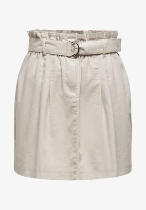 ONLNELDA SHORT SKIRT - Spódnica trapezowa - pumice stone