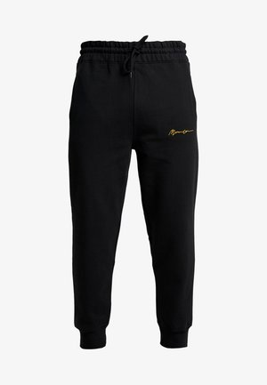 REGULAR SIGNATURE  - Tracksuit bottoms - black