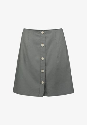 WITH BUTTONS - Spódnica mini - olive khaki