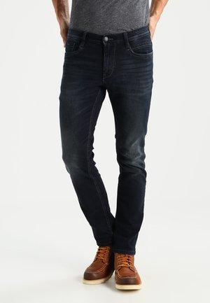 MARVIN  - Straight leg jeans - black stone wash denim