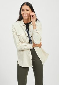 Vila - Button-down blouse - birch - 0