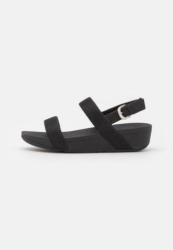 LOTTIE GLITZY - Wedge sandals - black