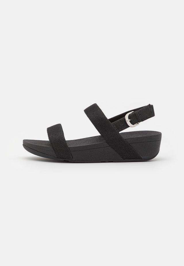 LOTTIE GLITZY - Sandalen met sleehak - black