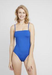 Monki - MALIN SWIMSUIT UNIQUE DROP - Swimsuit - blue - 0