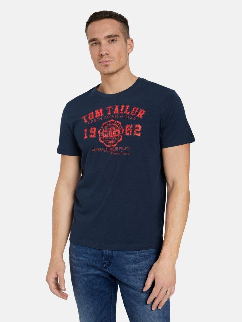 TOM TAILOR Pack of 2 - T-Shirt print - dark blue/dunkelblau i7ARjT
