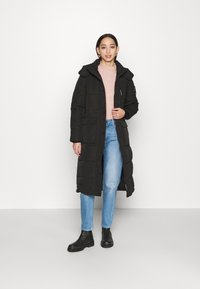 Superdry - LONGLINE EVEREST COAT - Winter coat - black - 1