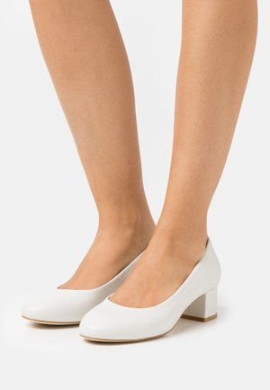 LEATHER COMFORT - Classic heels - white