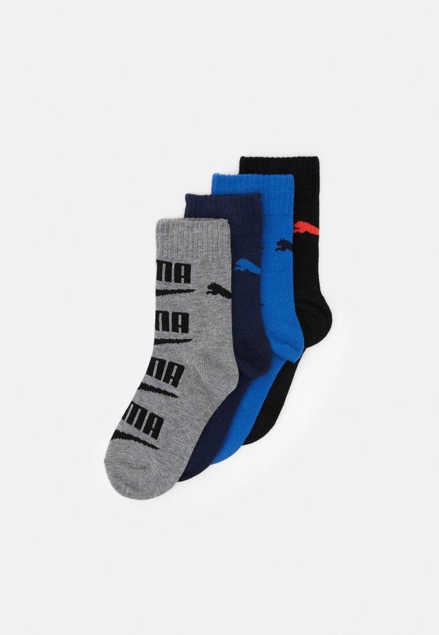 BOYS SEASONAL LOGO SOCK 4 PACK - Sukat - grey/black blue