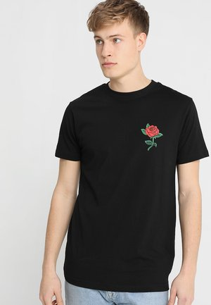 ROSE TEE - T-shirt med print - black