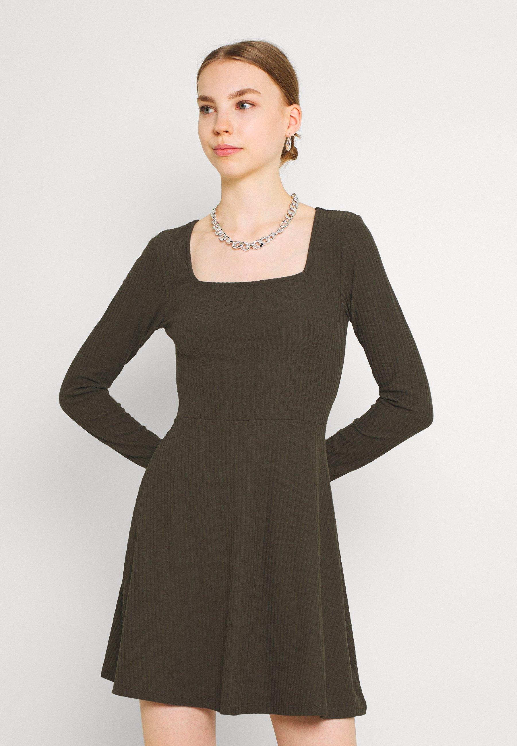 Women ONLNELLA SQUARE NECK DRESS - Jumper dress