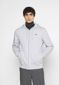 Lacoste - CLASSIC HOODIE - Sweatshirt - silver chine/elephant grey - 0