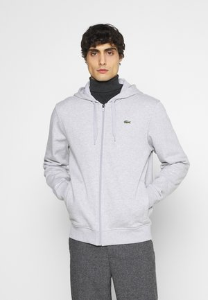 CLASSIC HOODIE - Huvtröja med dragkedja - silver chine/elephant grey