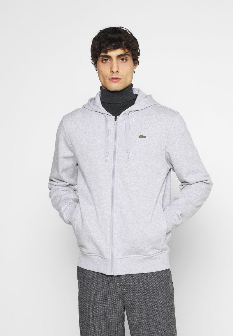 Lacoste - CLASSIC HOODIE - Sweatshirt - silver chine/elephant grey