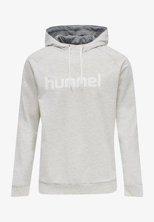 HMLGO  - Hoodie - egret melange