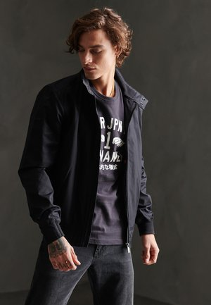 SUPERDRY FUNNEL HARRINGTON JACKET - Giacca leggera - black