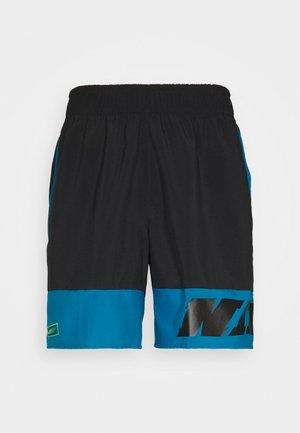 Pantalón corto de deporte - black/green abyss/mean green