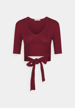 BACK TIE DETAIL - Sweter - wine