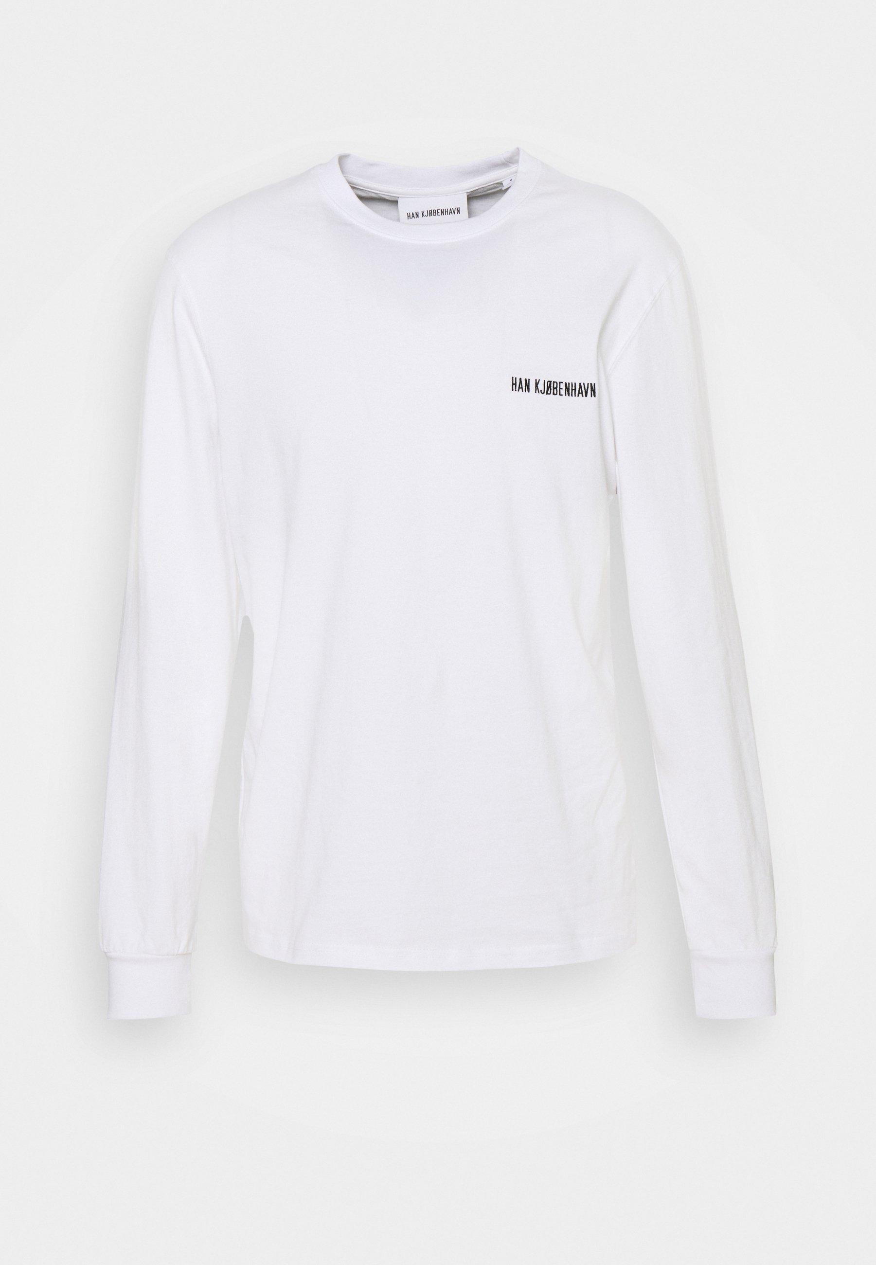 Uomo CASUAL TEE LONG SLEEVE - Maglietta a manica lunga - white
