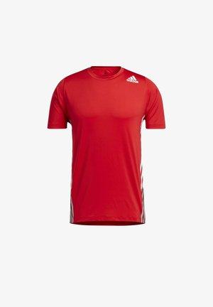 FREELIFT 3-STRIPES T-SHIRT - Print T-shirt - red